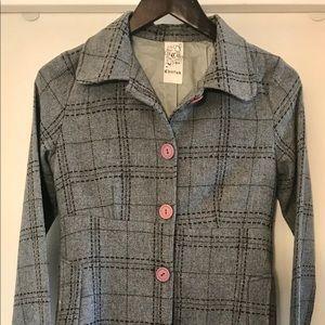 """CHERISH"" wool blend lined jacket."